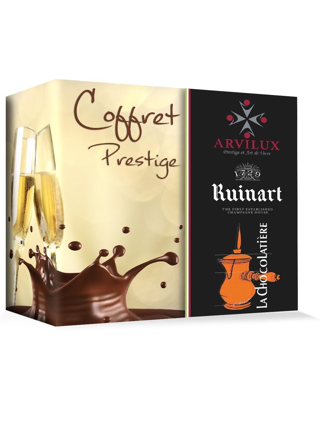 Coffret champagne & Chocolat  www.accessoire-pour-le-vin.fr