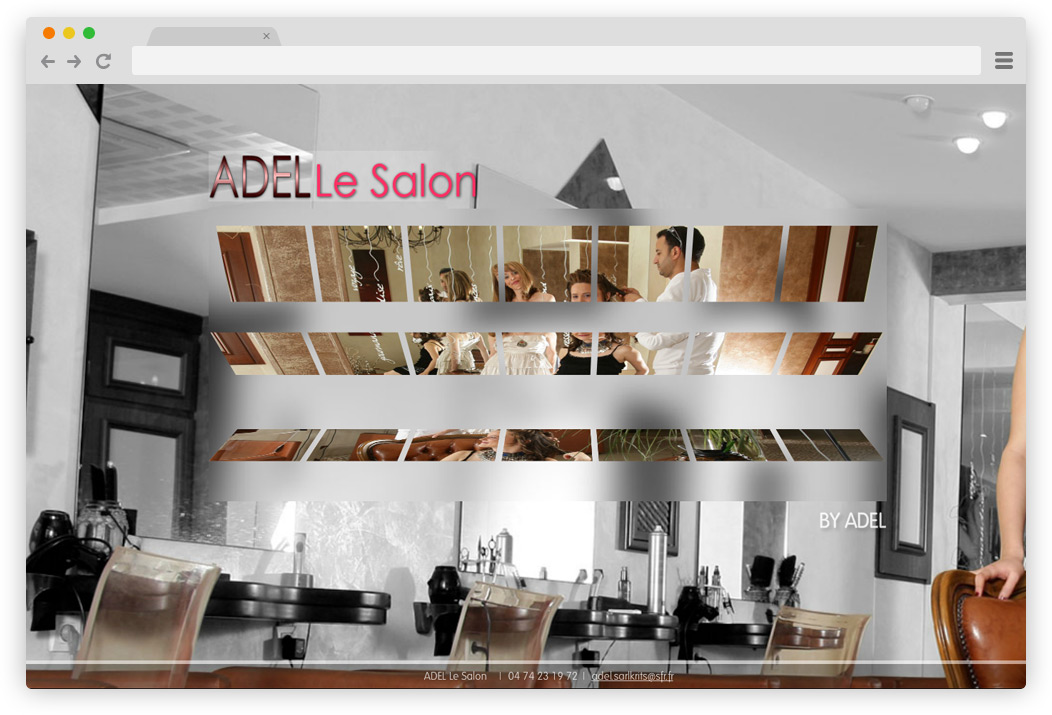 creation site internet Adel coiffeur Bourg en Bresse