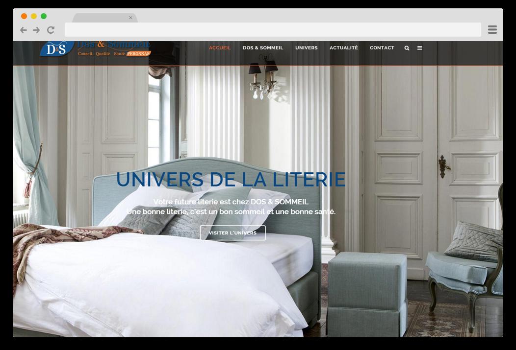 creation site internet Dos et Sommeil magasin literie Bourg en Bresse