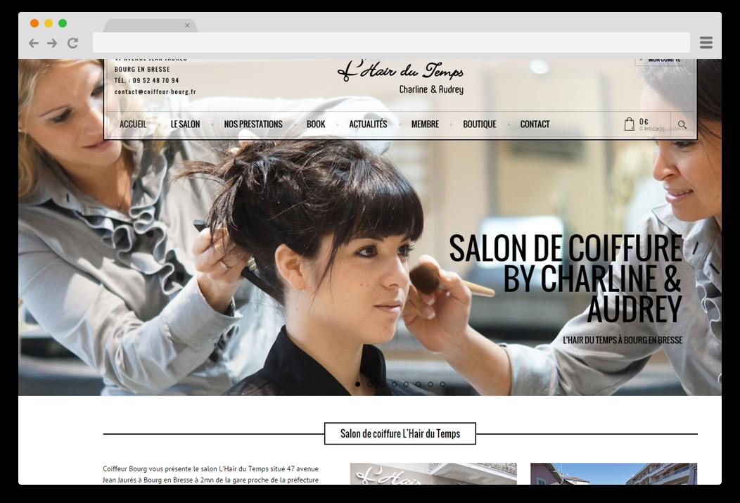 creation site internet L'Hair du Temps coiffeur Bourg en Bresse
