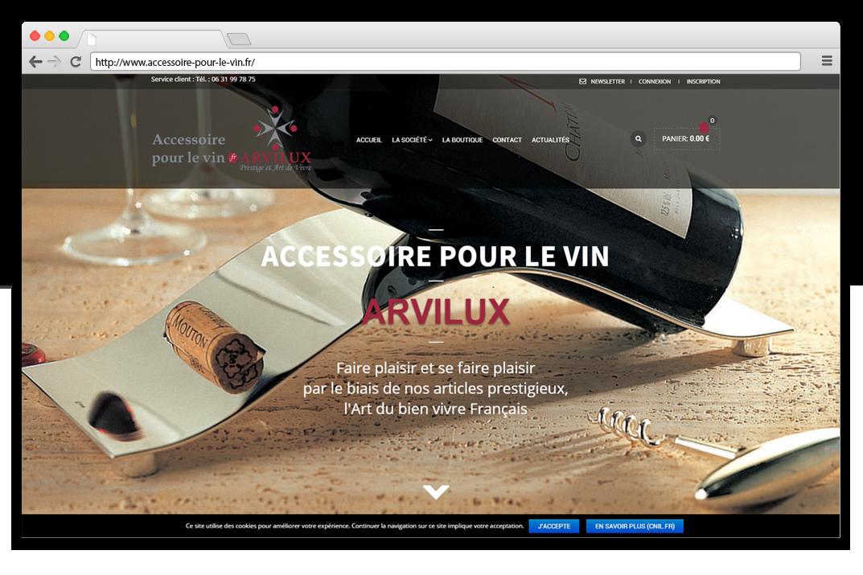 Création site e-commerce Accessoire pour le vin