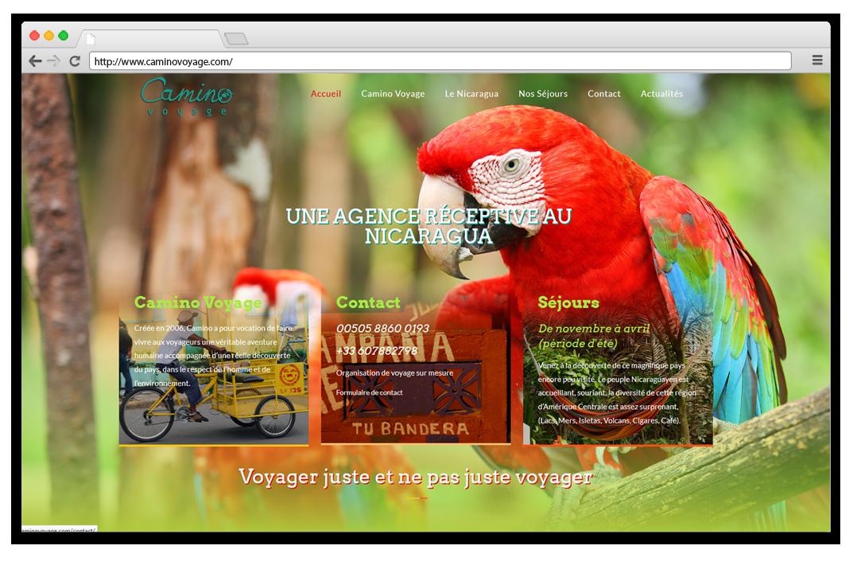 Création site internet Camino Voyage