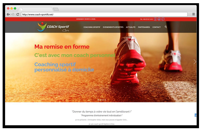 Création site internet Coach sportif
