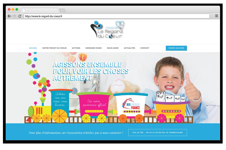 Création site internet Association Le Regard du Coeur