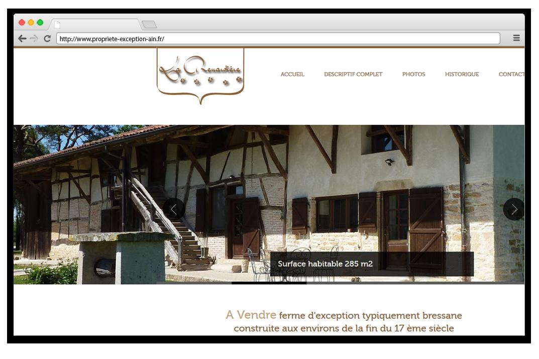 creation site internet Propriete d'exception