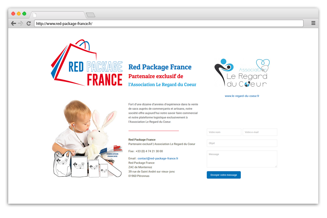 Création site internet Red Package France