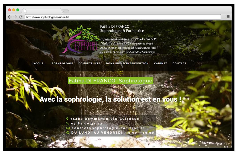 Création site internet Sophrologie solution