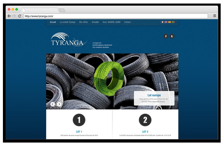 Création site internet Tyranga