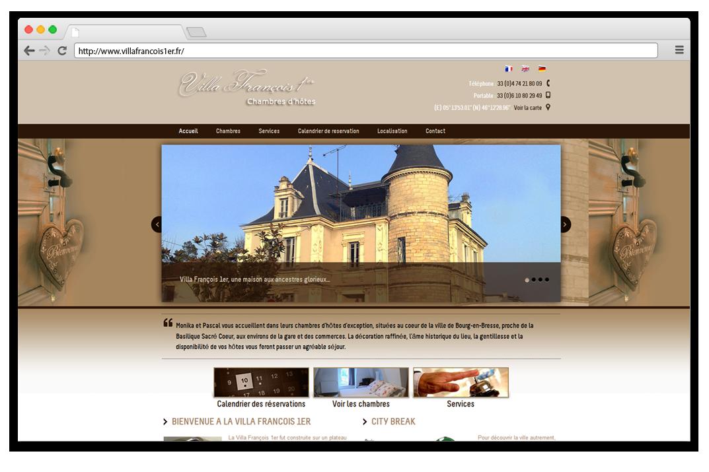 creation site internet Villa Francois 1ER - chambre d'hôtes