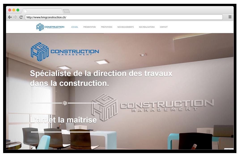 Création site internet hmg construction