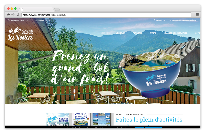 Création site internet Centre de Vacances Les Rosiers - Mégevette
