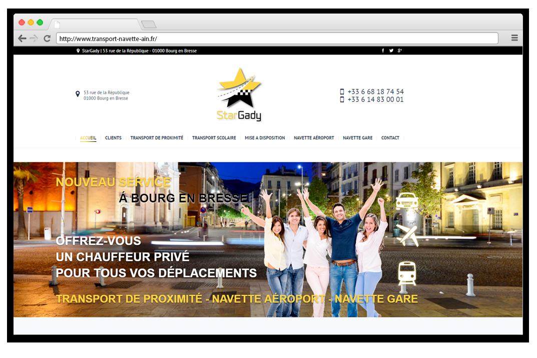 Création site internet StarGady - Chauffeur privé Bourg en Bresse