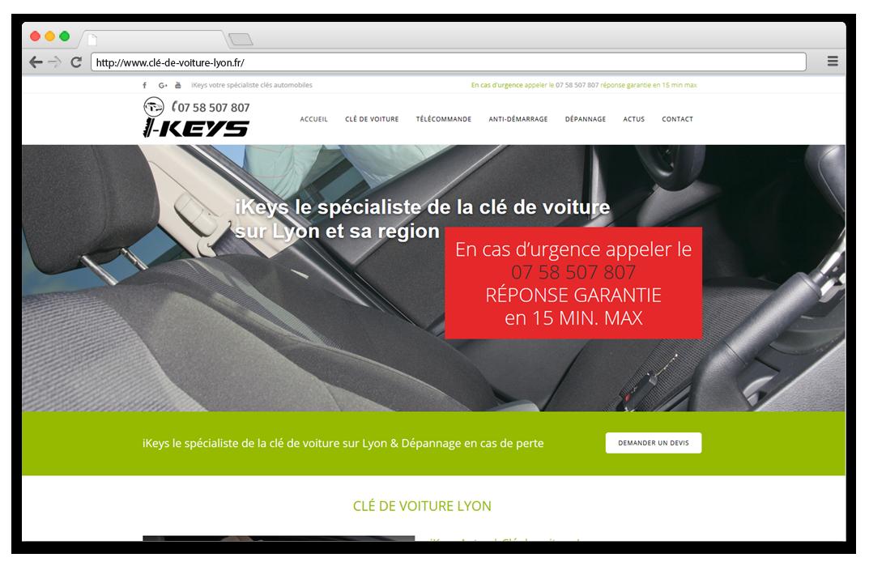 Création site internet Clé de voiture Lyon - iKeys